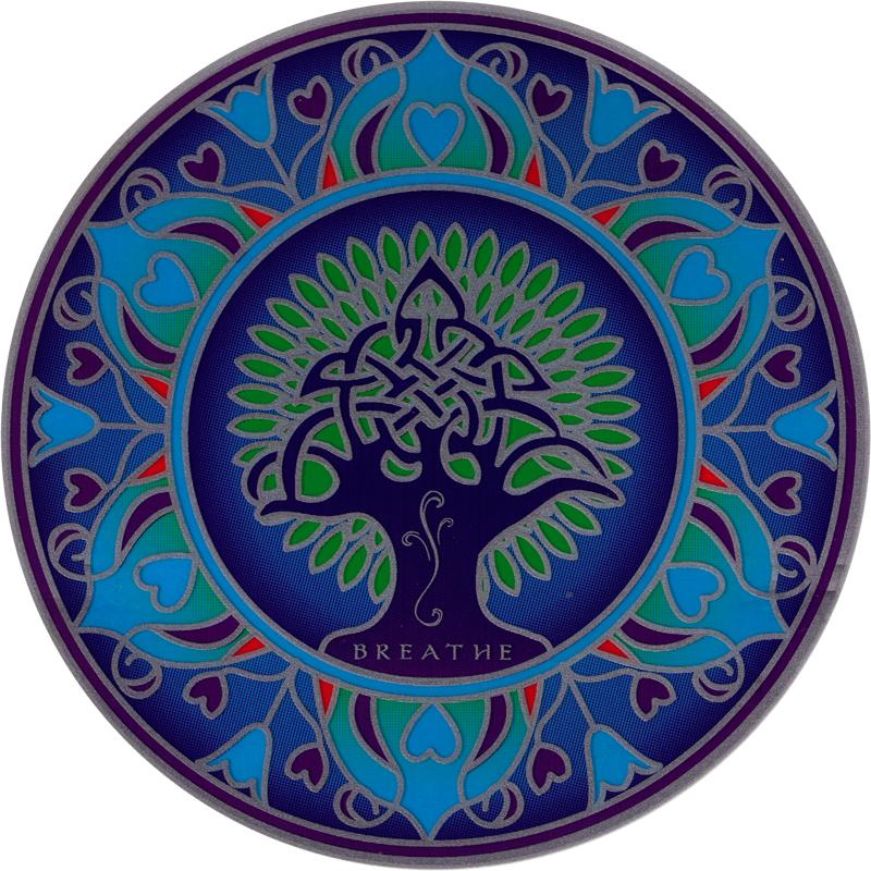 Earth Mandala Window Sticker Decal 5 5 Quot Circular