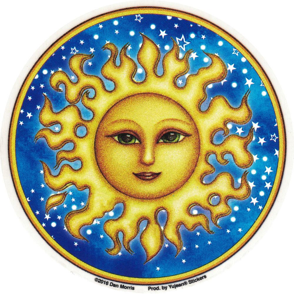 Starry Sun Window Sticker Decal 4 5 Quot Circular
