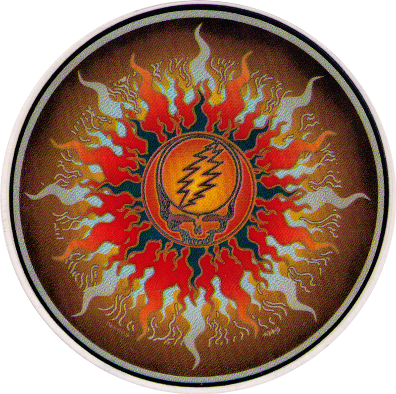 Grateful Dead Sun Window Sticker Decal 4 5 Quot Circular