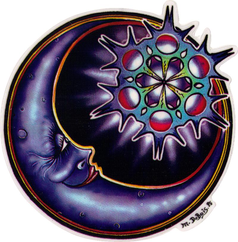 Crescent Moon Window Sticker Decal 4 5 Quot Circular