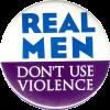 MG0493 - Real Men Don't Use Violence - Magnet