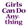 MG0523 - Girls Can Do Anything - Magnet