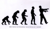 """Zombie Evolution - Small Bumper Sticker / Decal (5"""" x 3"""")"""