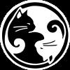 "Yin Yang Cats - Small Bumper Sticker / Decal (3"" Circular)"