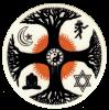 "World Religion - Small Bumper Sticker / Decal (3"" Circular)"