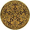 "Wood Pentacle - Bumper Sticker / Decal (4.5"" X 4.5"")"