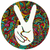 "Victory Peace Sign - Bumper Sticker / Decal (4.5"" Circular)"
