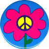 MG171 - Peace Sign Flower - Magnet