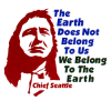 MG373 - The Earth Does Not Belong To Us, We Belong To The Earth - Magnet