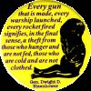 MG767 - Every Gun That Is Made - Dwight D. Eisenhower - Magnet