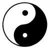 """Yin Yang - Small Bumper Sticker / Decal (3"""" X 3"""")"""