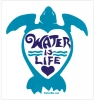 """Water is Life - Small Bumper Sticker / Decal (3.5"""" X 4"""")"""