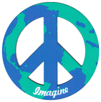 Earth Peace Sign - Vehicle Magnet