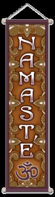 Namaste' Om - Large Affirmation Banner