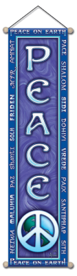 Peace On Earth - Large Affirmation Banner