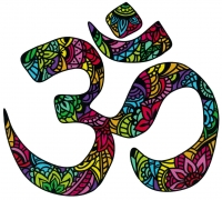"Om Aum Namaste Yoga Meditation Symbol - Bumper Sticker / Decal (5"" X 4.5"")"