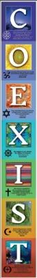 "Coexist 35"" - vertical accordion poster"