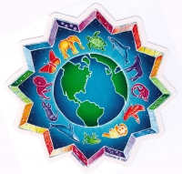 Animals Encircling the Earth - Window Sticker / Decal