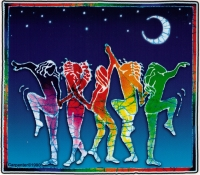 Women Dancing in Moonlight - Window Sticker / Decal
