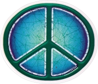 Batik Peace Sign / Symbol - Window Sticker / Decal