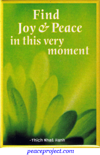 Find Joy & Peace in this very moment - Refrigerator Magnet