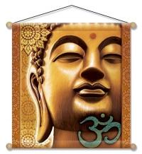 Golden Buddha - Meditation Banner