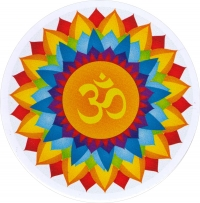 "Om Burst - Bumper Sticker / Decal (4.5"" Circular)"