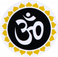 "Om Burst II - Bumper Sticker / Decal (4.5"" Circular)"