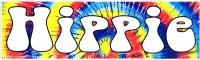 """HIPPIE - Bumper Sticker / Decal (10.5"""" X 3"""")"""