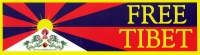 "Free Tibet - Bumper Sticker / Decal (11"" X 3"")"