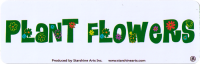 "LS172 - Plant Flowers - Bumper Sticker / Decal (9"" X 2.25"")"