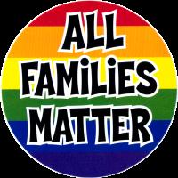 """All Families Matter - Bumper Sticker / Decal (4.75"""" X 4.75"""")"""