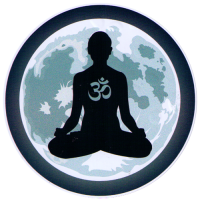 "Moon Meditation - Window Sticker / Decal (4.5"" Circular)"