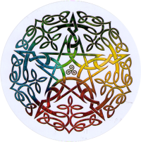 "Elemental Celtic Pentacle - Window Sticker / Decal (4.5"" Circular)"