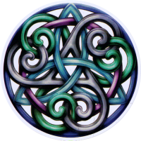 "Celtic Grace - Window Sticker / Decal (4.5"" Circular)"