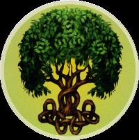 "Celtic Tree - Window Sticker / Decal (4.5"" Circular)"