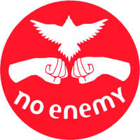 No Enemy - Red - Bumper Sticker / Decal 4""