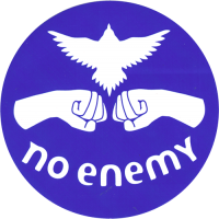 No Enemy - Royal Blue - Bumper Sticker / Decal 4""