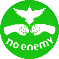 No Enemy - Green - Bumper Sticker / Decal 4""