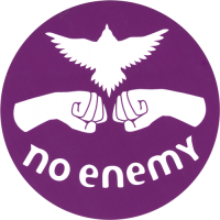 No Enemy - Purple - Bumper Sticker / Decal 4""