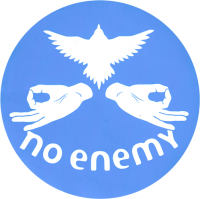 No Enemy - Aqua - Bumper Sticker / Decal 4""
