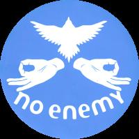 """No Enemy - Aqua - Bumper Sticker / Decal 4"""""""