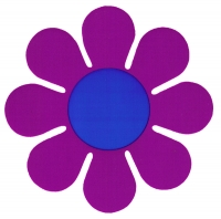 "Purple Daisy - Bumper Sticker / Decal (5"" X 5"")"