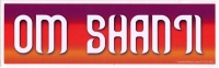 "Om Shanti - Bumper Sticker / Decal (10.75"" X 2.25"")"