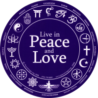 "Live in Peace and Love - Bumper Sticker / Decal (6"" Circular)"