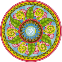 "Om Mandala - Bumper Sticker / Decal (4.5"" Circular)"