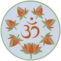 "Rose Om - Bumper Sticker / Decal (4.5"" Circular)"