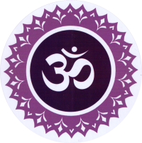 "Crown Chakra - Bumper Sticker / Decal (4.5"" Circular)"