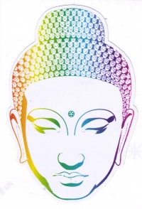 "Buddha Head - Bumper Sticker / Decal (3"" X 4.5"")"