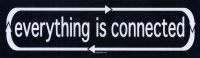 """Everything is Connected - Bumper Sticker / Decal (9"""" X 2.5"""")"""